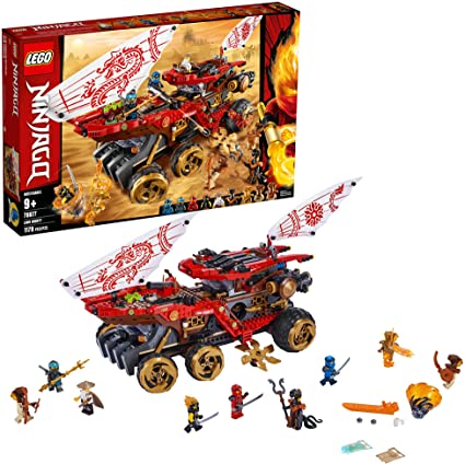 LEGO Ninjago Land Bounty 70677 Toy Truck Building Set with Ninja Minifigures, Popular Action Toy with Two Toy Vehicles and Toy Ninja Weapons for ...
