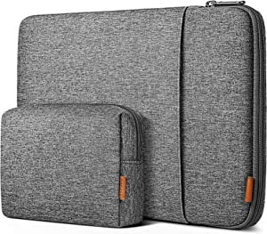 Inateck 12.3-13 Inch Case Sleeve 360° Protection Compatible with MacBook Air 13 2020/2019/2018, MacBook Pro 13 2016-2020, MacBook Air M1,12.9 iPad Pro, Surface Pro 7/6/X/5/4/3 with Accesory Bag -Gray