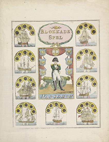 amazon com classic art poster board game about napoleon s exile