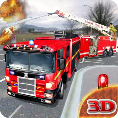 Fire Engine Truck Driving : Emergency Response