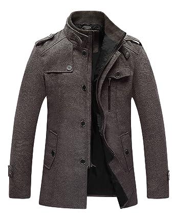 Men's Heavy Brown Wool Winter Coat/Jacket - Weather Ready Coat - Size XXL pejAXa4Ym