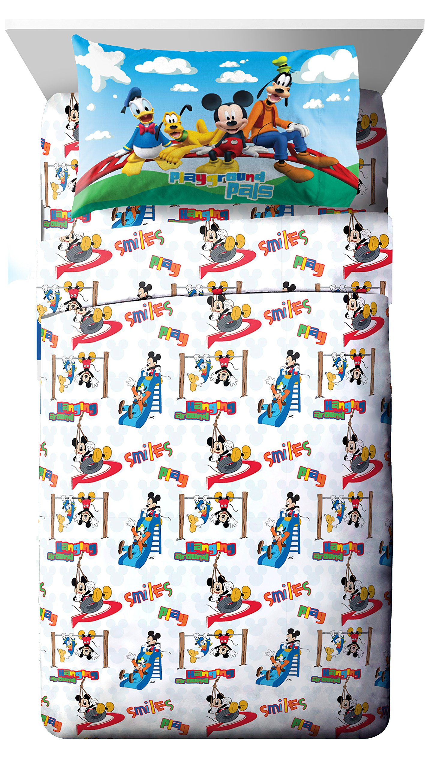 Disney Junior Mickey Mouse Clubhouse Play 3 Piece Twin Sheet Set by Disney