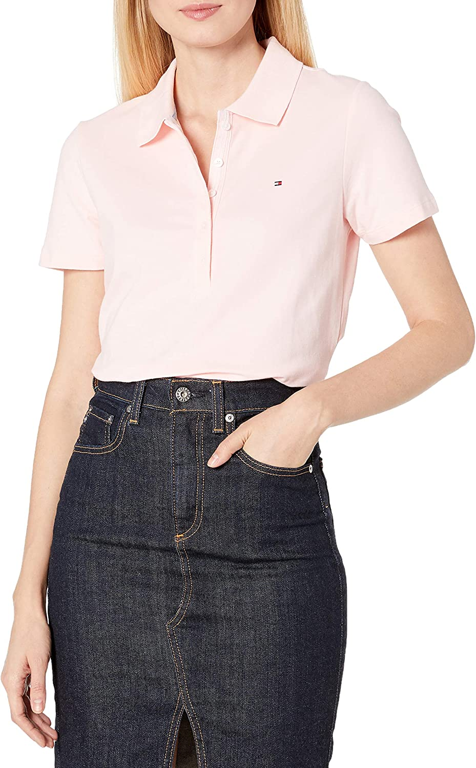 Tommy Hilfiger Women's Short Sleeve Polo (Standard and Plus Size)