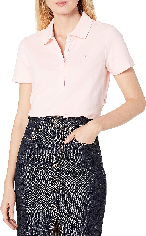 Tommy Hilfiger Womens Scottie Slim Polo Ss Shirt