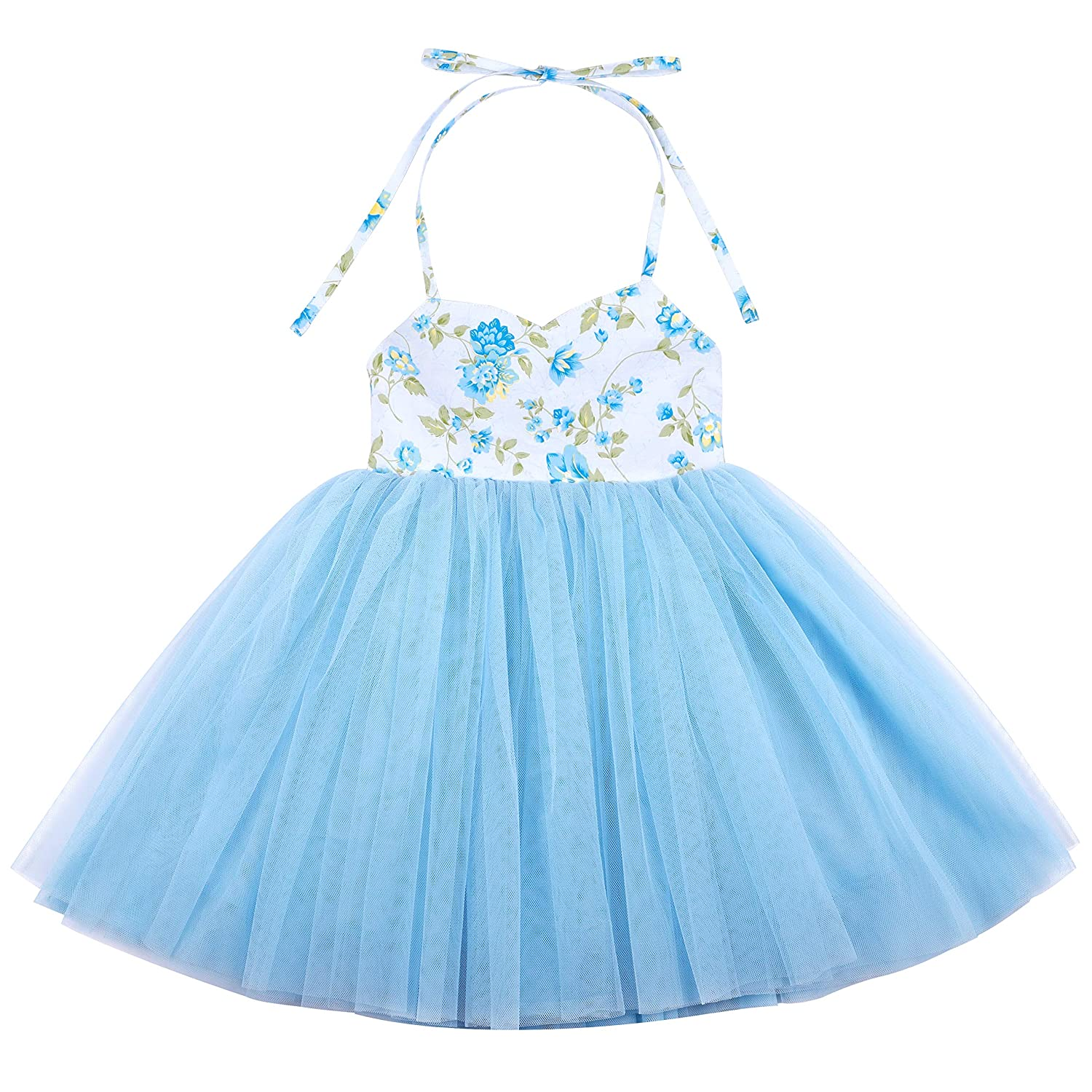 d0e7f26e7 Amazon.com: Flofallzique Special Occasion Girls Dress Pink Tutu Wedding  Christening Birthday Baby Toddler Clothes: Clothing