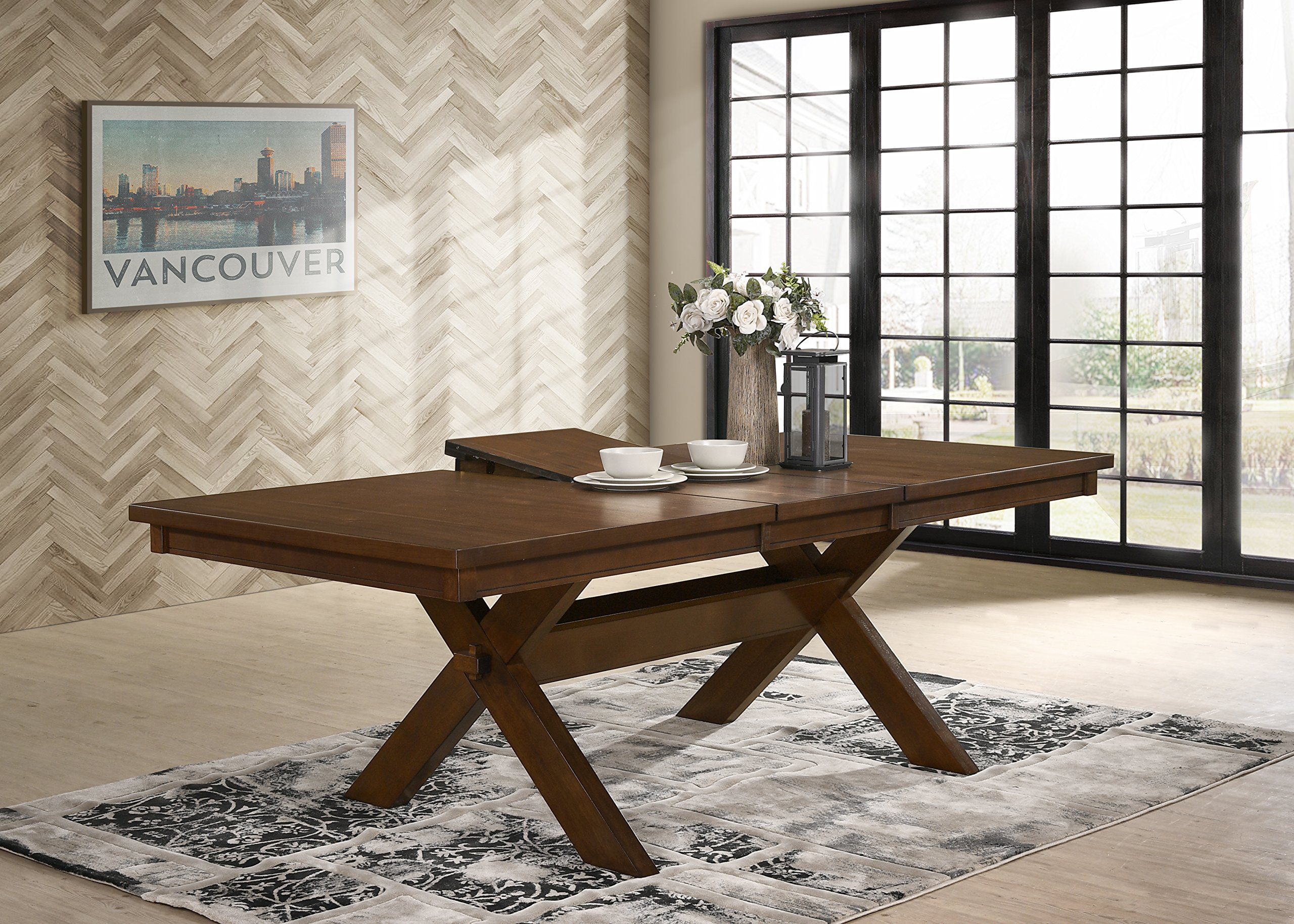 Roundhill Furniture Karven 9-Piece Solid Wood Dining Set with Table and 8 Chairs by Roundhill Furniture (Image #11)
