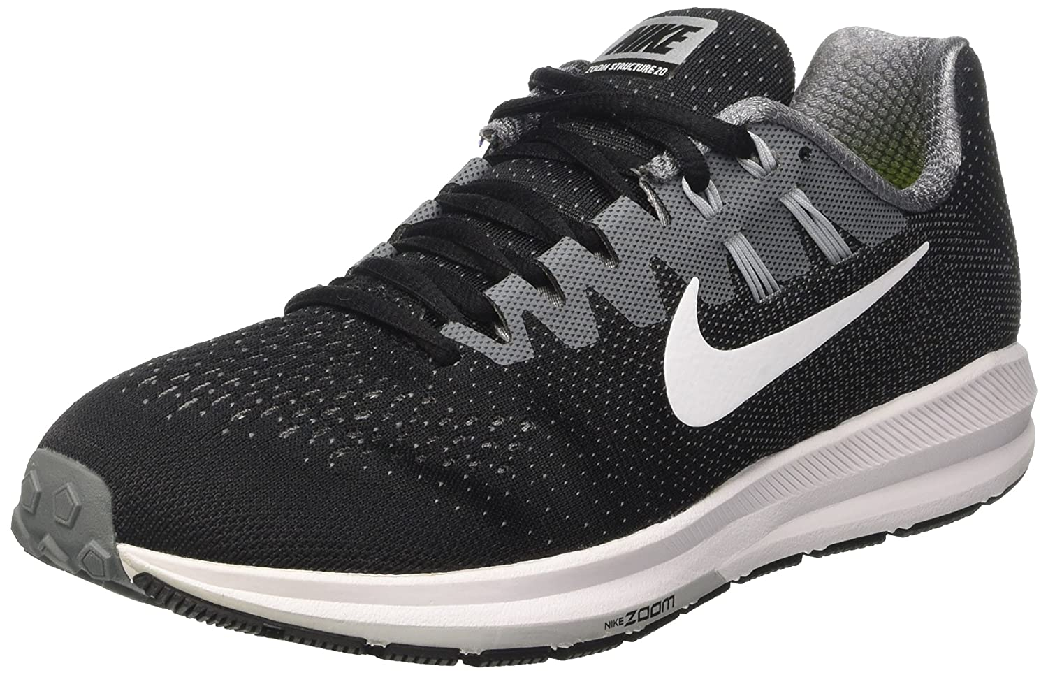 NIKE Men's Air Zoom Structure Running Shoes B01LRPZP56 15 D(M) US|Black/Cool Grey/Pure Platinum/White