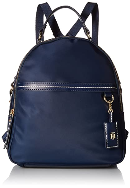 TOMMY HILFIGER Donna Zaino blu navy con logo all over