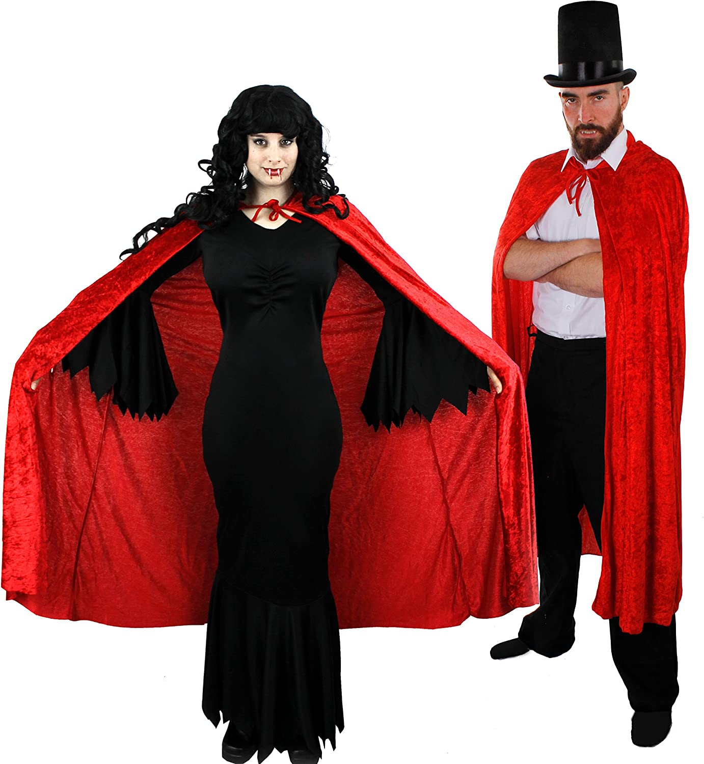 Couples Vampire and Vampiress Costume Set for Adults