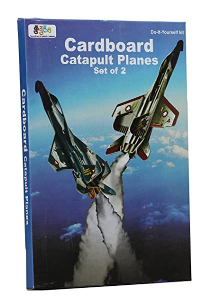 Buy kutuhal pack of 10 cardboard catapult planes set of 2 kits kutuhal pack of 10 quotcardboard catapult planes set of 2quot solutioingenieria Choice Image