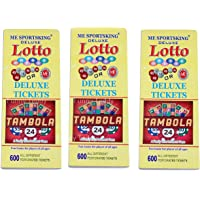 Funny Teddy Tambola Tickets - 1200 Tickets (2 Book)   Each Book Contains 600 Tickets   Bingo Game Tickets   Paper Tickets