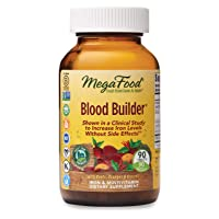 MegaFood Blood Builder Energy Boosting Iron Supplement Tablets, 90 Count