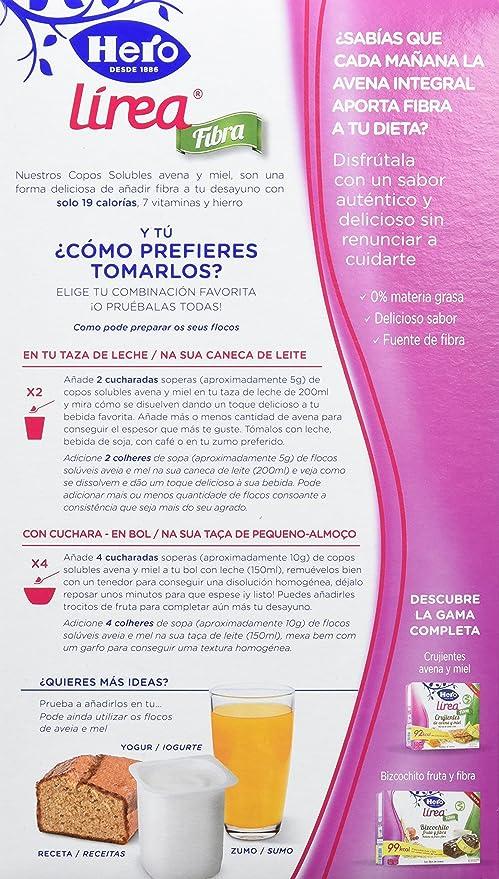 Hero Muesly Línea Copos Solubles Avena y Miel - 6 Paquetes de 125 gr - Total: 750 gr: Amazon.es: Alimentación y bebidas