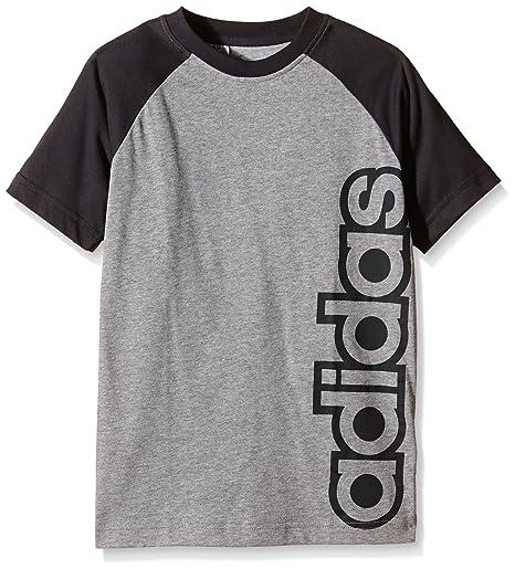 Adidas YB LR B tee - Camiseta para Hombre, Color Gris, Talla 128
