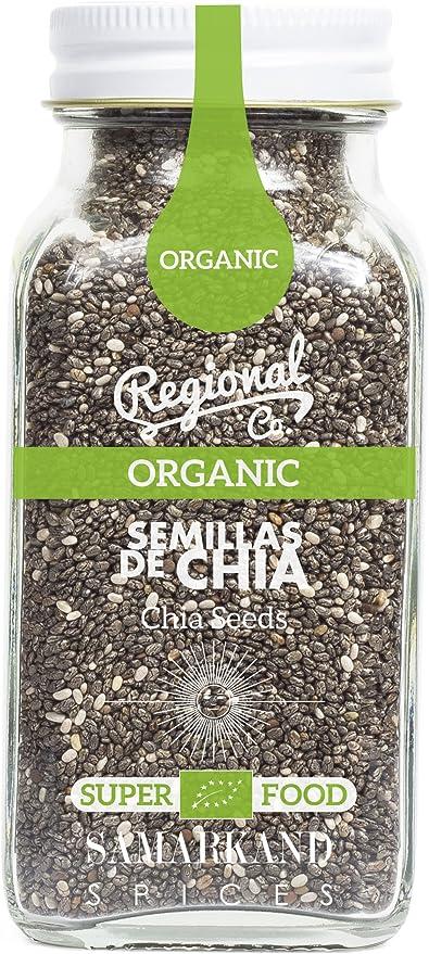 Chía Orgánica & Ecológica (Semillas de Chia) de Samarkand 125 gr - Orgánico: Amazon.es: Alimentación y bebidas