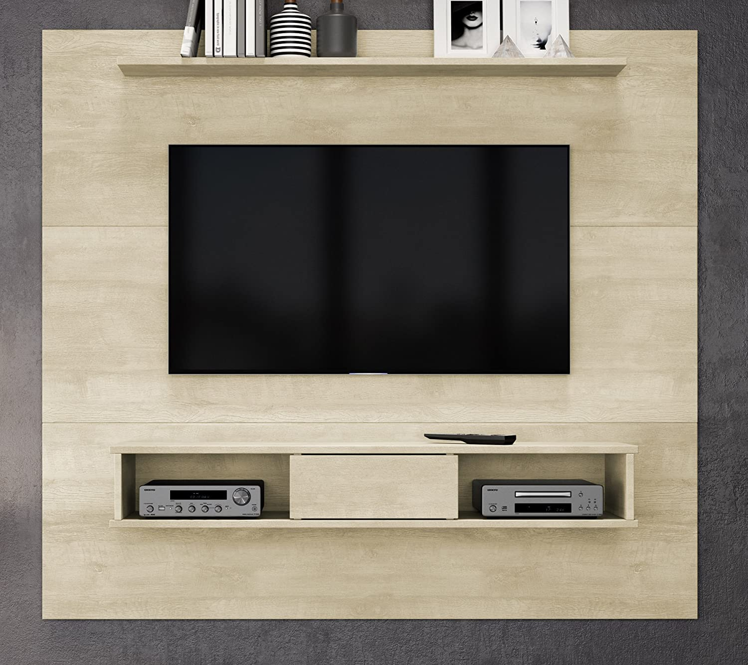 Midtown Concept 2-shelf 70-inch TV Board, Sand