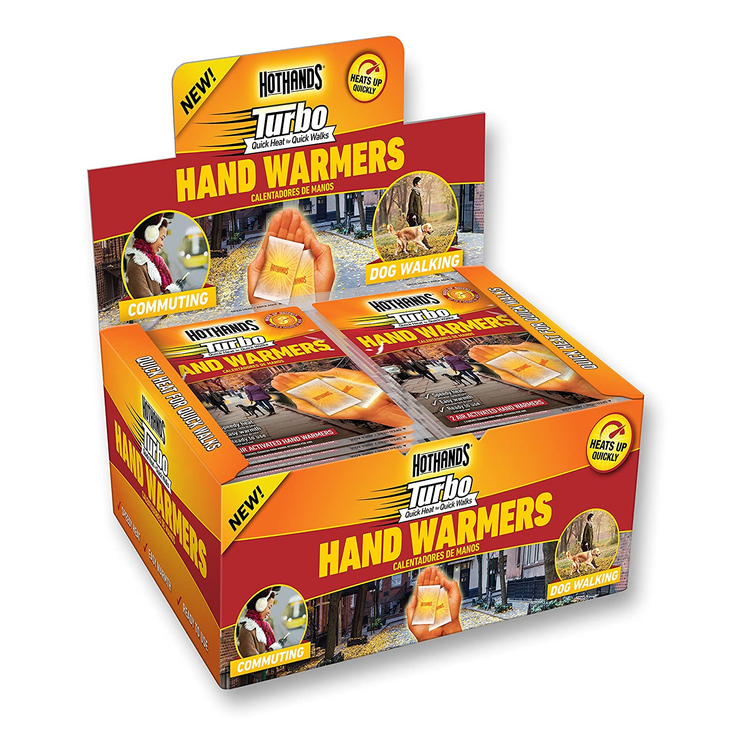 Amazon.com: HotHands Turbo Hand Warmers - Long Lasting Safe Natural Odorless Air Activated Warmers - Up to 3 Hours of Instant Heat - 40 Pair: Sports & ...