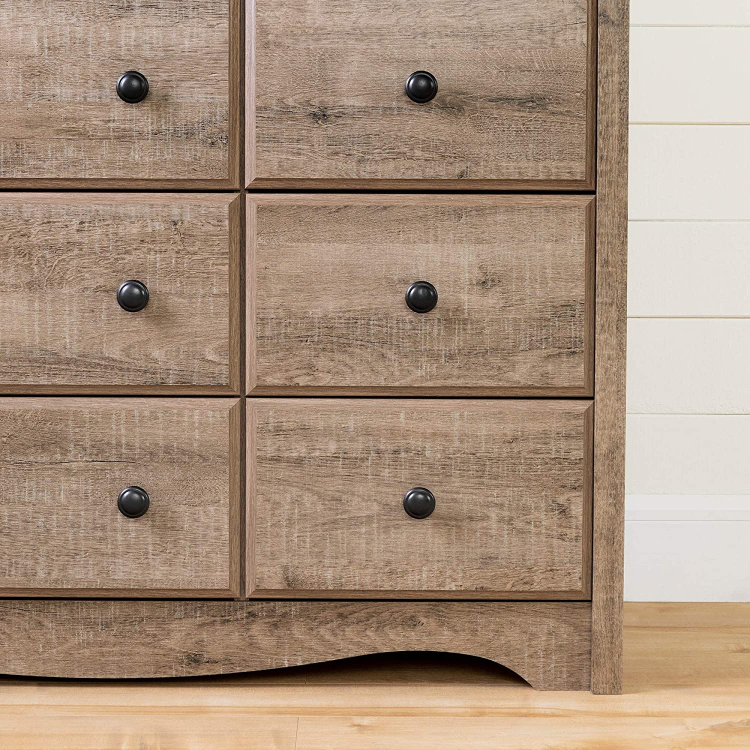 South Shore 12547 Angel Changing Table 6-Drawers-Weathered Oak