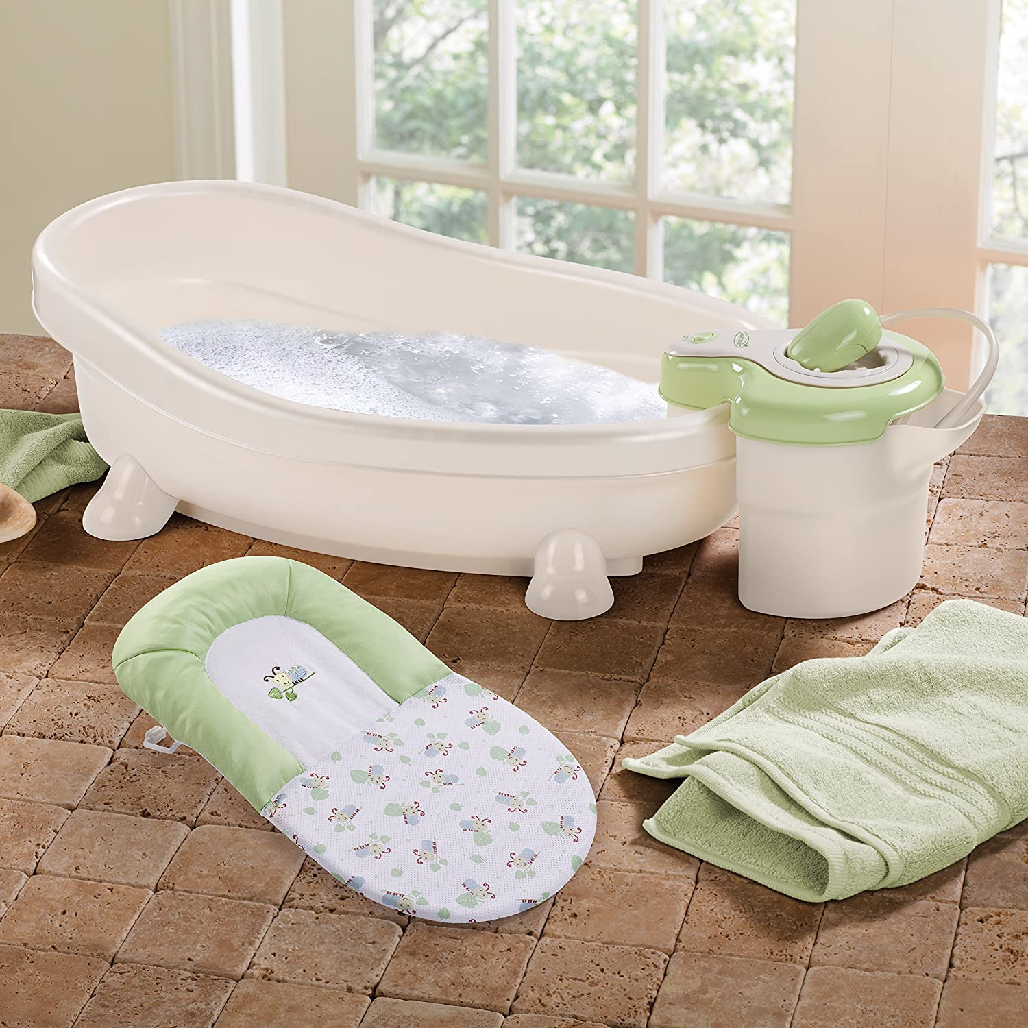 Amazon.com : Summer Infant Soothing Spa And Shower Baby Bath : Baby Bathing  Seats And Tubs : Baby