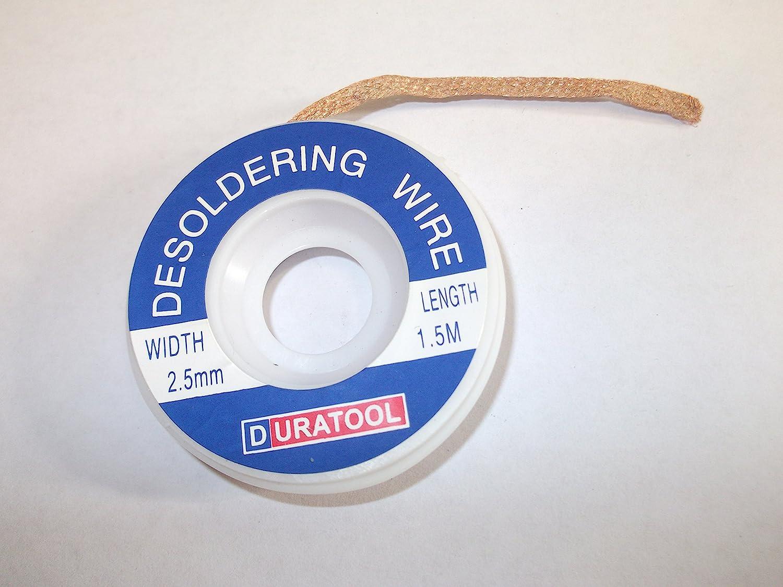 2 Reels 2.5mm Wide 150cm Reel Desoldering Braid Wick Flux Coated Desolder Mop Wire Innovo