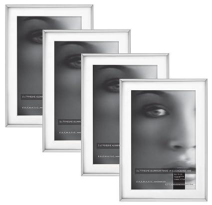 Amazon.com: Framatic Fineline 5x7 Inch Aluminum Frame with 4x6 Inch ...
