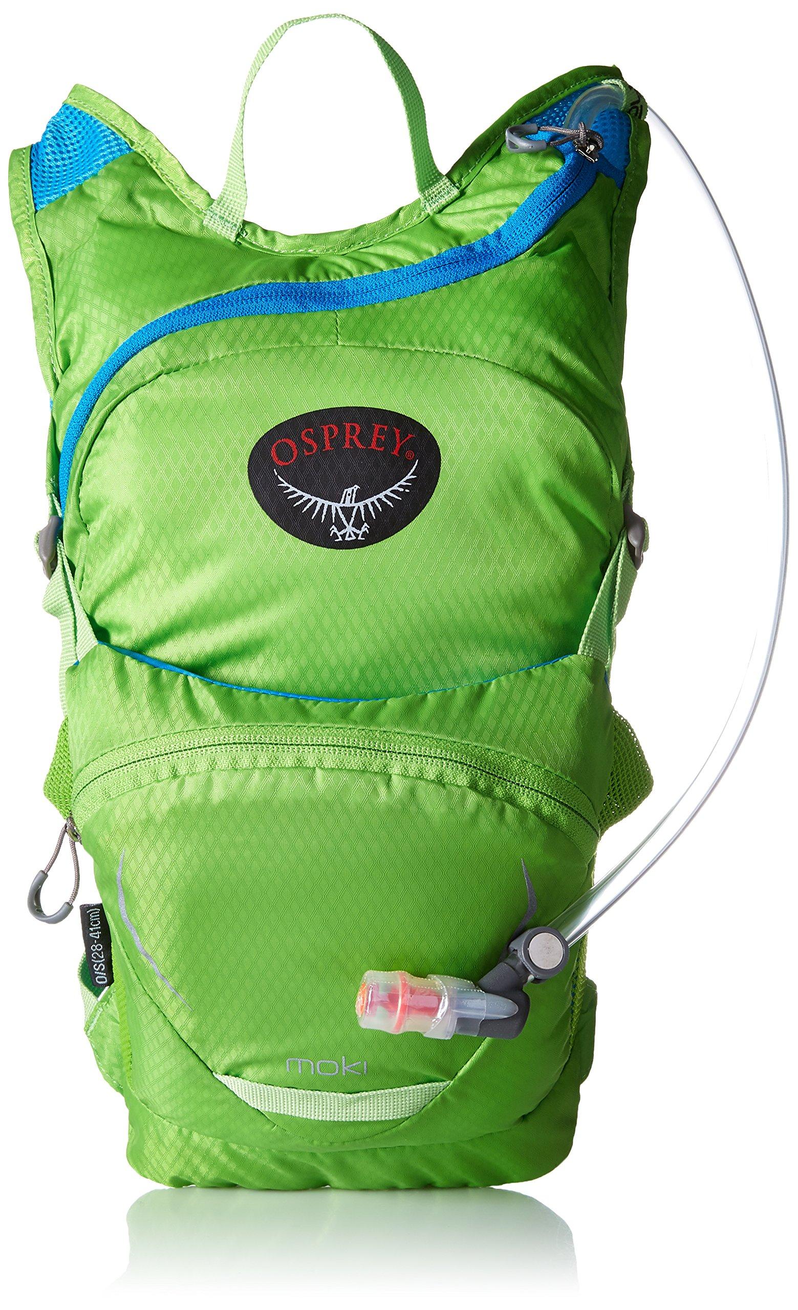 Osprey Packs Kid's Moki 1.5 Hydration Pack, Grasshopper Green by Osprey (Image #1)