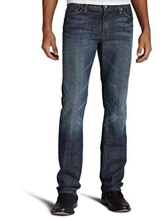 7 For All Mankind Mens Slimmy Slim Straight Leg Jean In New York Dark