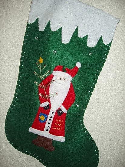 personalized handmade 16 christmas stocking santa - Handmade Christmas Stockings