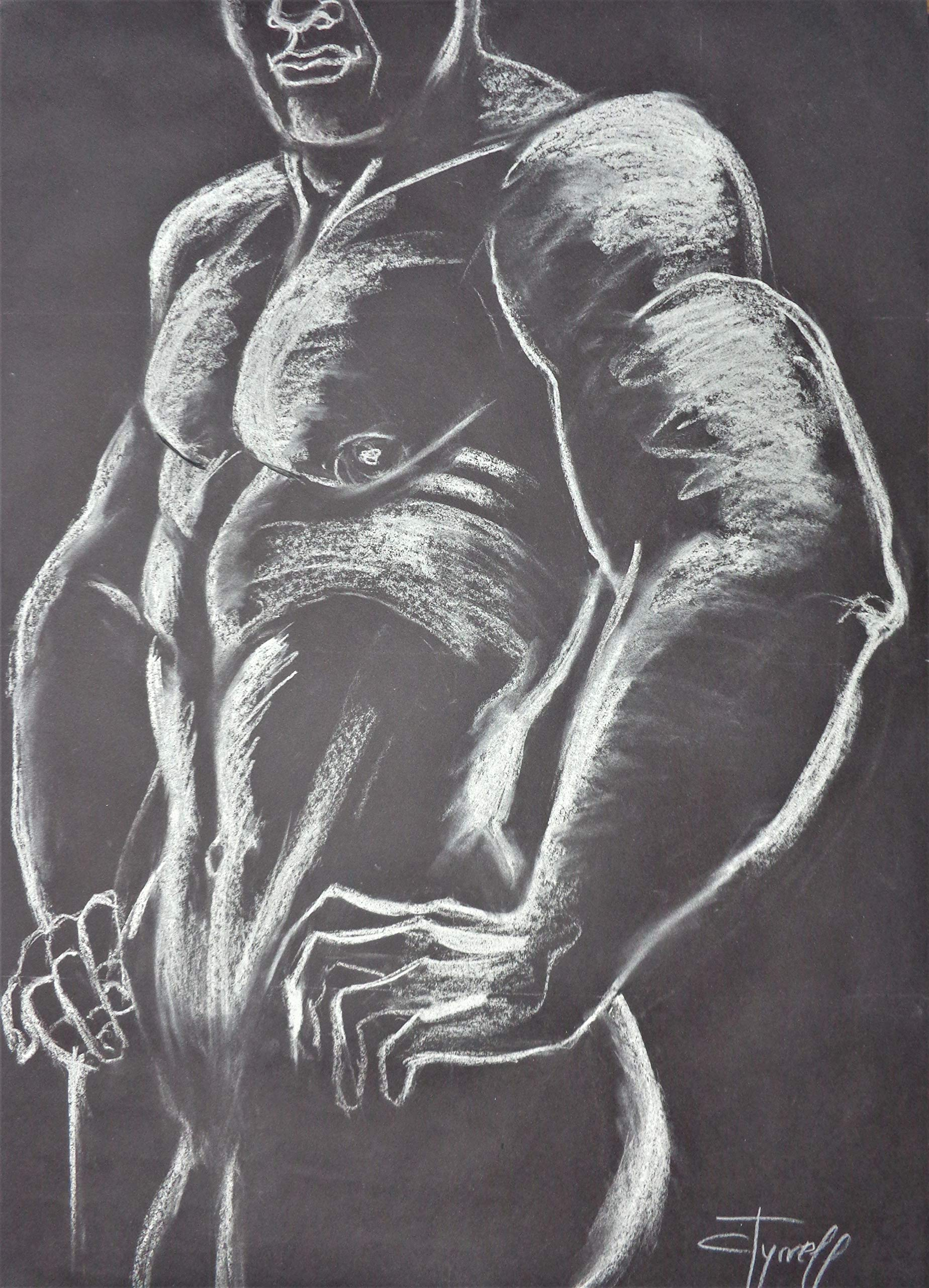 Man Nude Figure 2 by