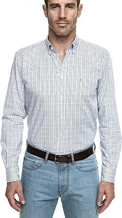 Caramelo, Camisa Sport Regular Con Cuello Italiano, Hombre · Azul Oscuro, Talla XXL: Amazon.es: Ropa y accesorios