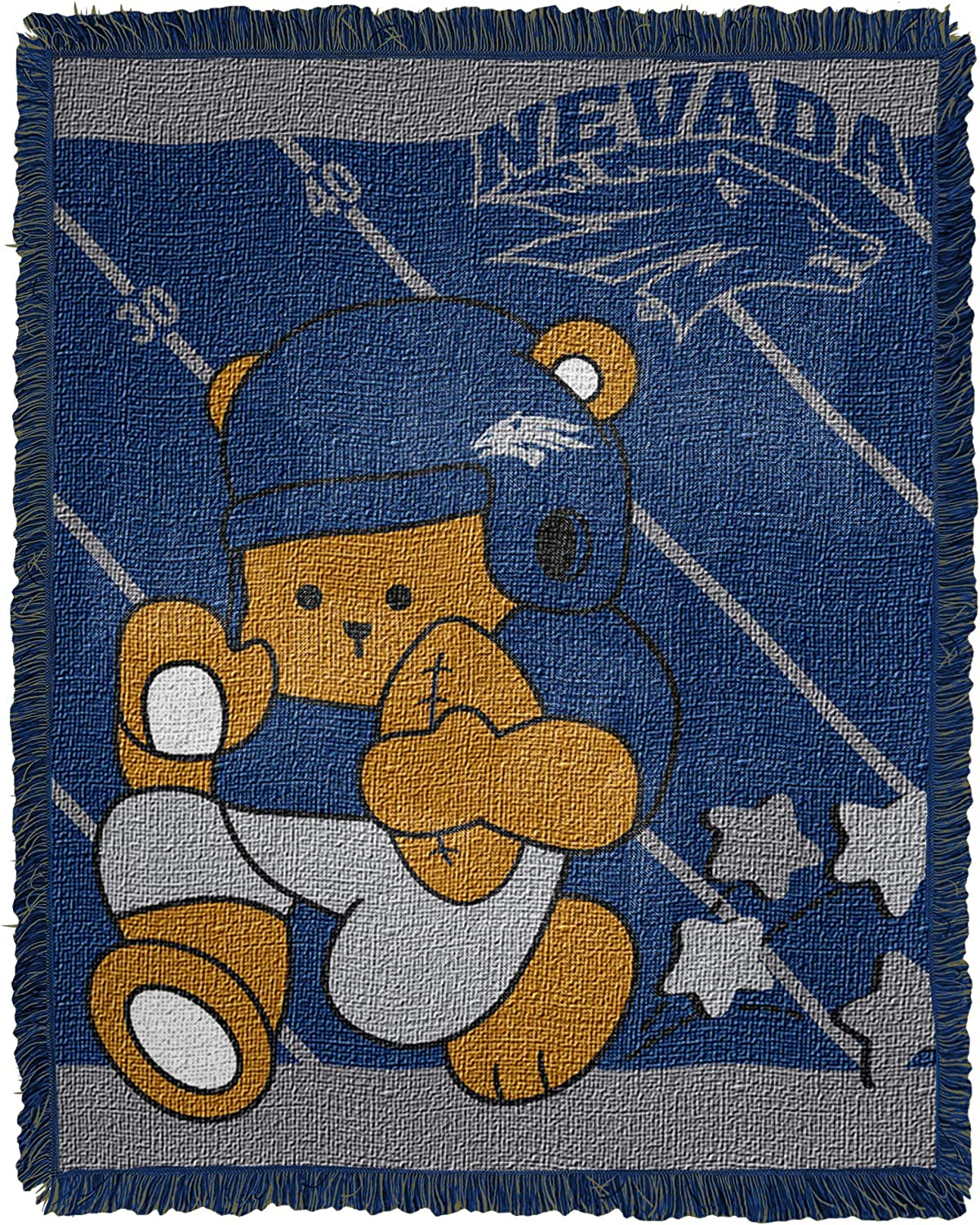Officially Licensed NCAA Fullback Jacquard Woven Baby Throw Blanket Multi Color 36 x 46