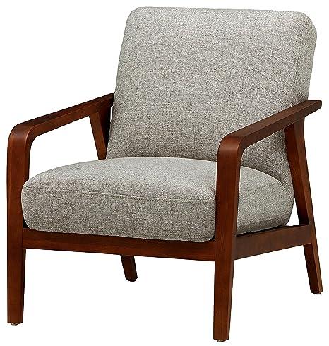 Amazon.com: Acento sillón acolchado de tela de marco de ...