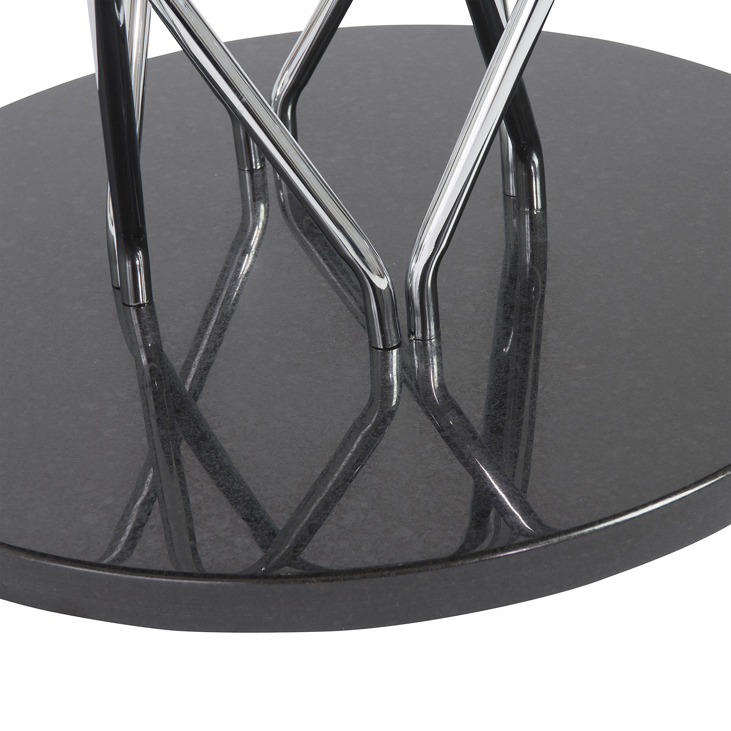 47'' Round Ebony and Steel Meeting Table by eS (Image #4)