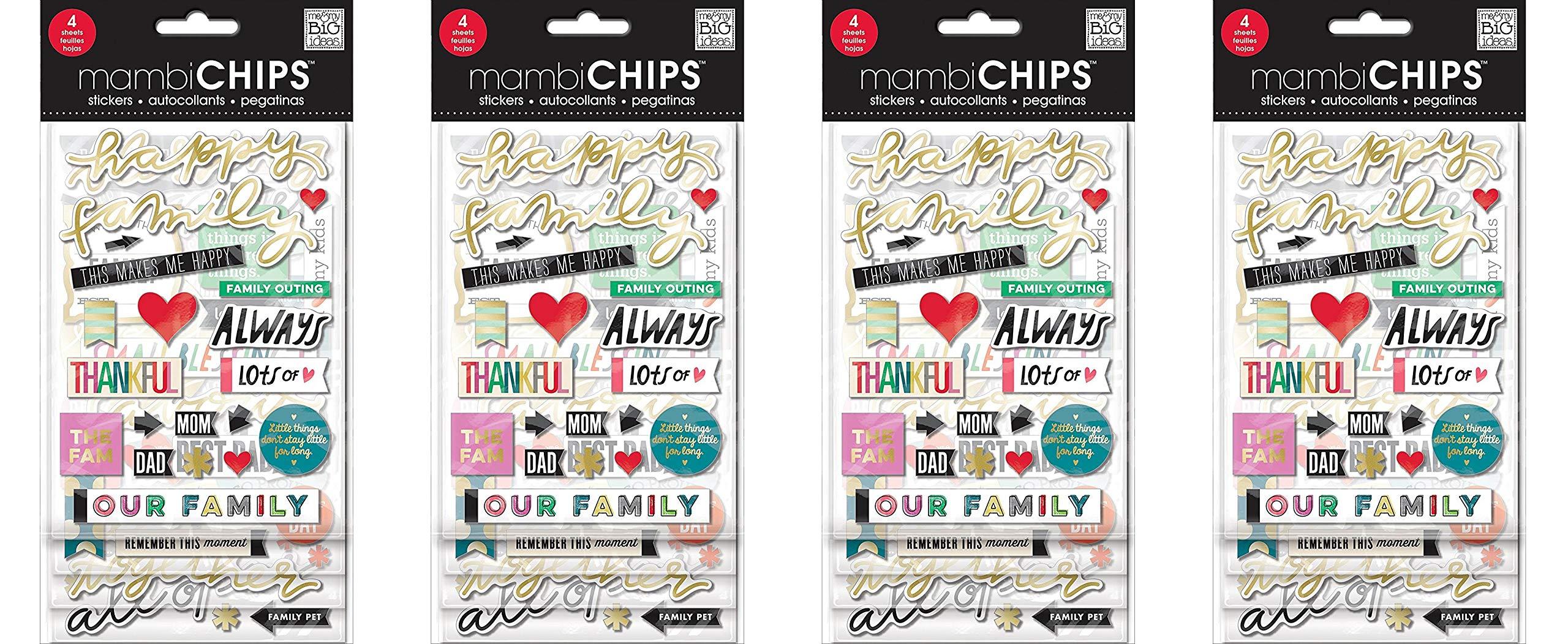 me & my BIG ideas Happy Family Sticker (Fоur Paсk)
