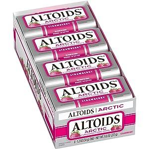 Altoids Arctic Strawberry Mints Singles Size 1.2 Ounce 8-Count Box