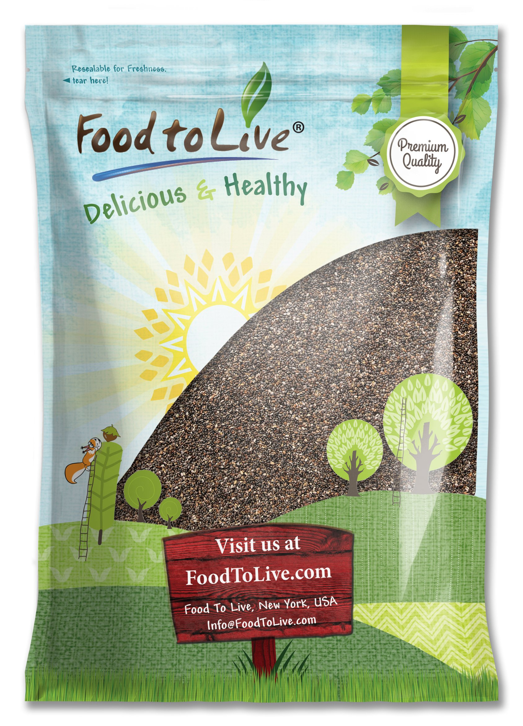 Chia Seeds, 20 Pounds - Kosher by Food to Live