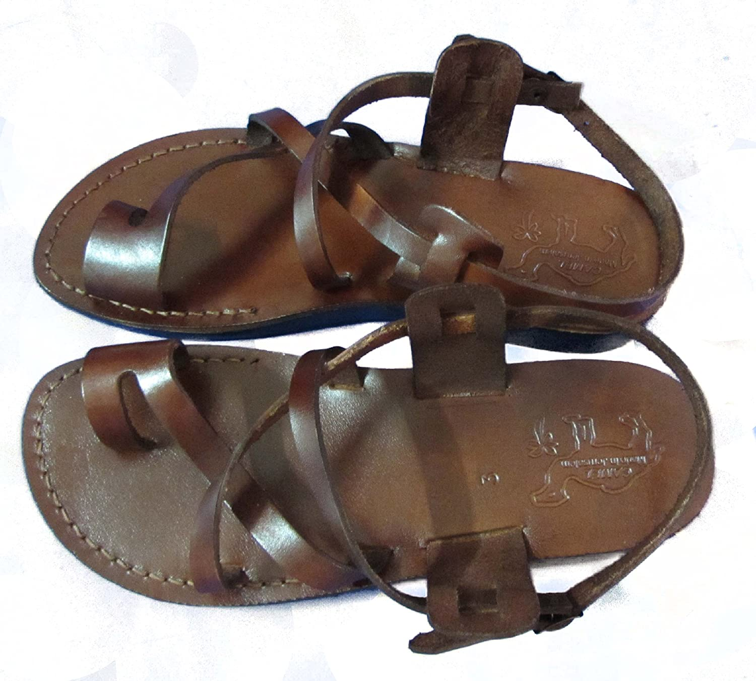 Brown Leather Size US Men's 8.5 Women's 10 EU42 Greek Roman Jesus Biblical Sandals Style 506 B00LT0CQ6Q Parent