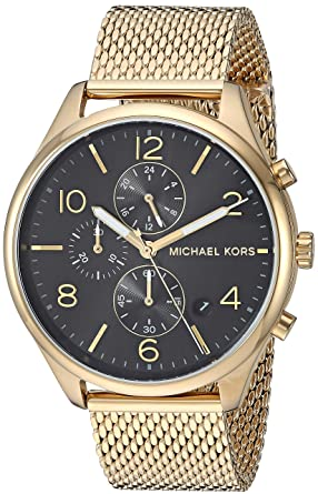 18eca0c972df Image Unavailable. Image not available for. Color  Michael Kors Men s  Merrick Analog-Quartz Watch with Stainless-Steel-Plated Strap