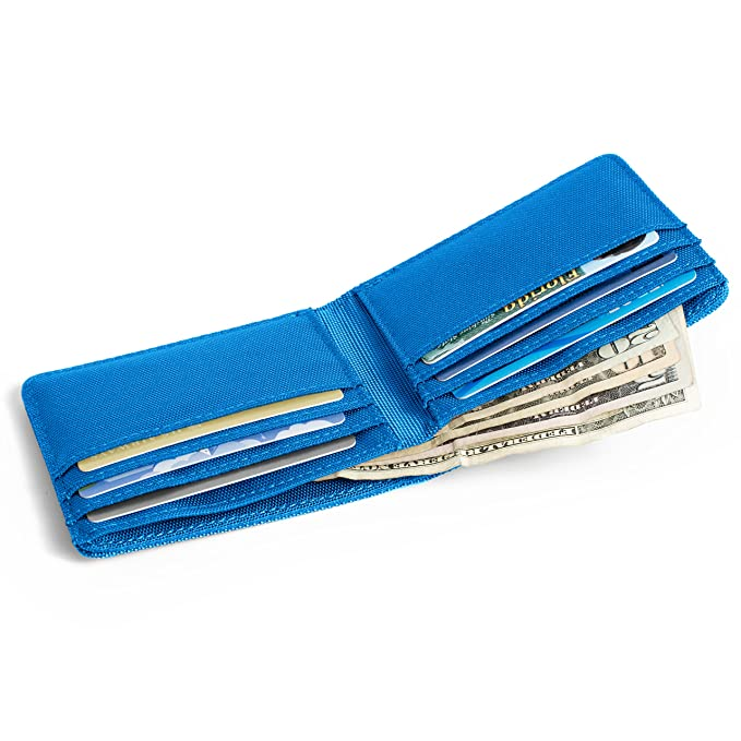 RFID Wallet Bifold 6 Slot - RFID Nylon Wallets - Protective Wallets for Men - Stops Electronic Pickpocketing
