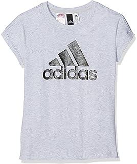 Adidas YG Linear P Tee Shirt, Mädchen: : Sport