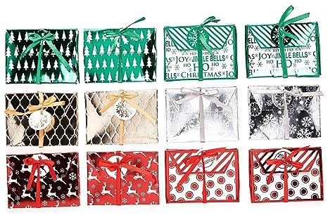 Amazon.com: Navidad Foil titulares de tarjeta de regalo con ...