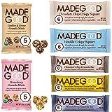 MadeGood Healthy Snacks Variety Pack, 40 Ct - Organic Assortment of Granola Bars, Granola Mini Snack Packs, Crispy Squares; I