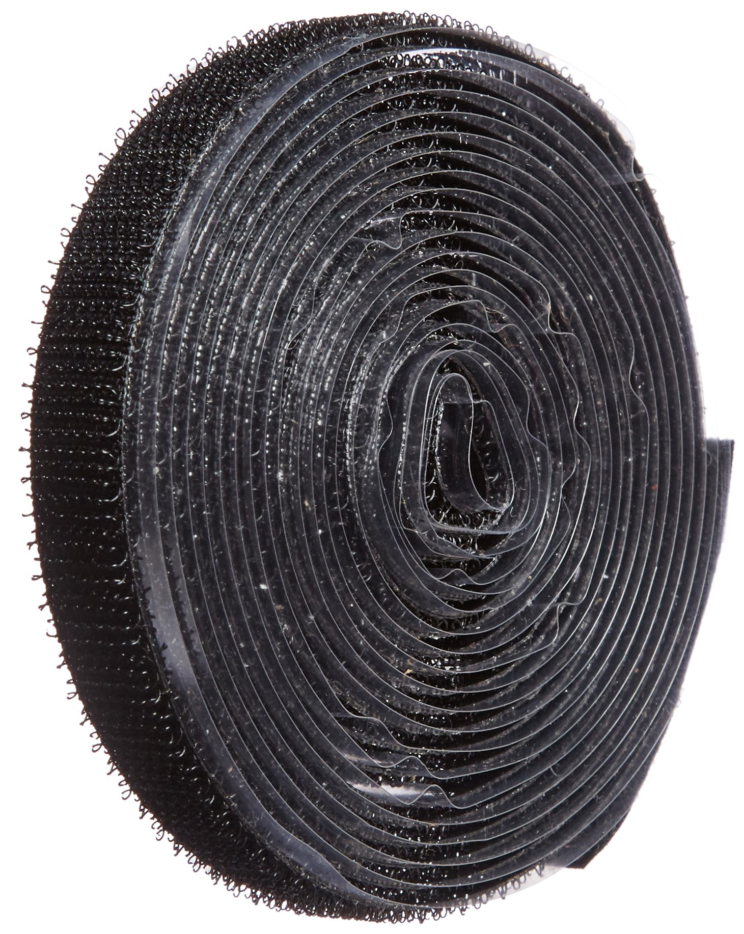 VELCRO 1001-AP-PSA/H Black Hook Type Nylon Woven Fastening Tape, Pressure Sensitive Adhesive Back, 1/2'' Wide, 10' Length