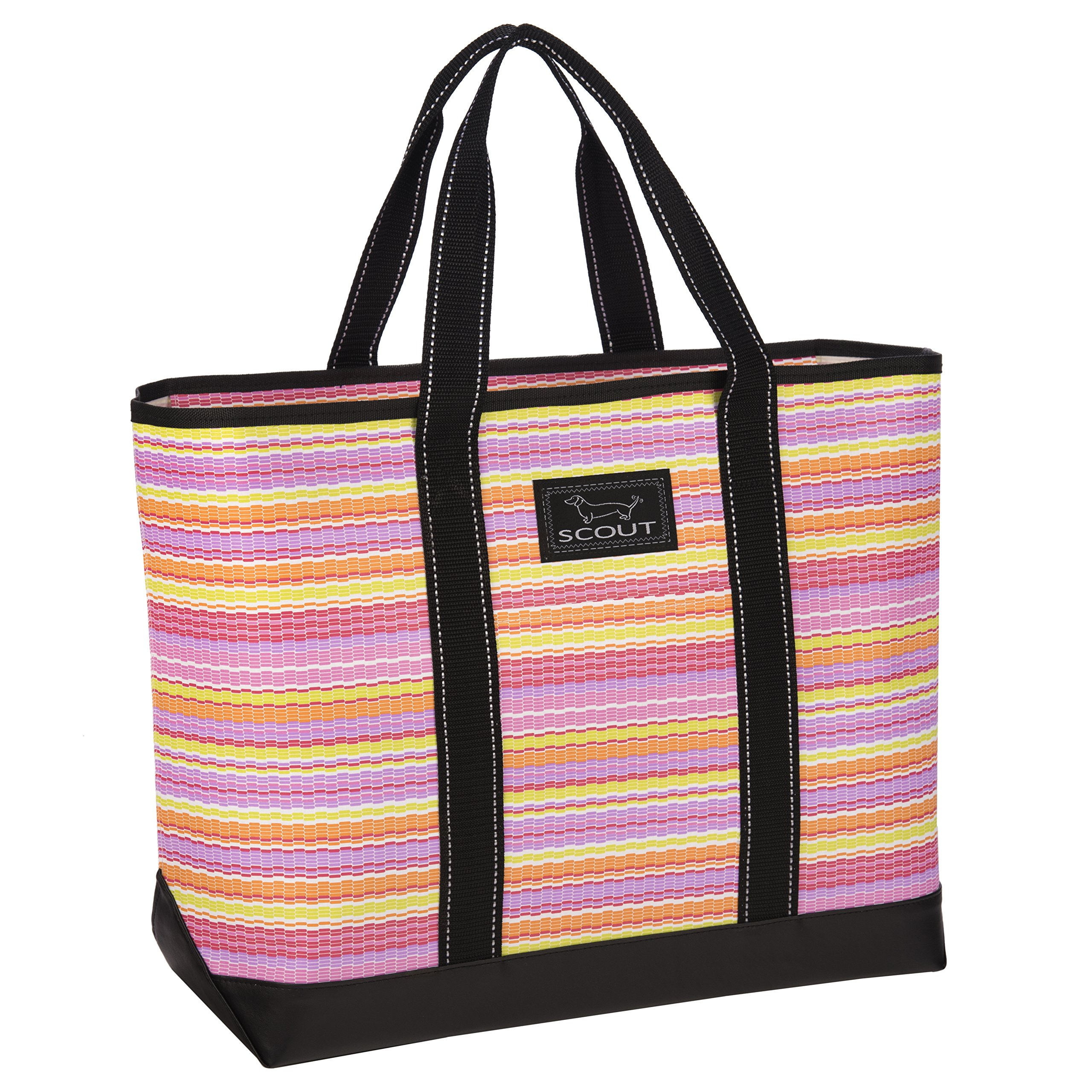 SCOUT Beach Bum Large Tote Bag, For the Beach or Pool, Slim Profile, Folds Flat, Sand and Water Resistant, Zips Closed, Sunfetti