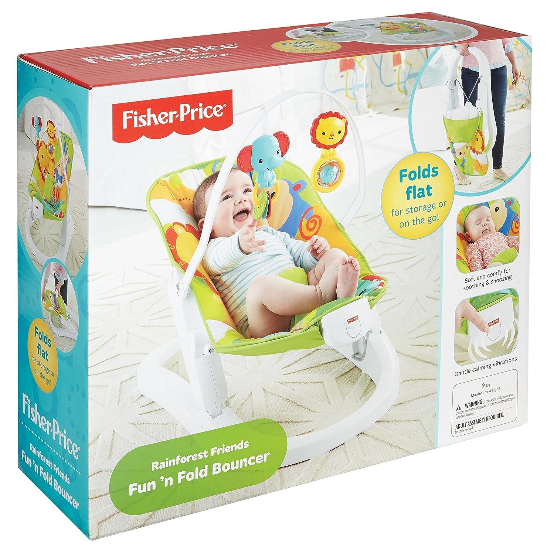 Fisher Price Rainforest Friends Fun n Fold Bouncer Amazon Baby