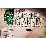 "Soft Snow Iridescent Glimmer Blanket, 1"" x ""15"