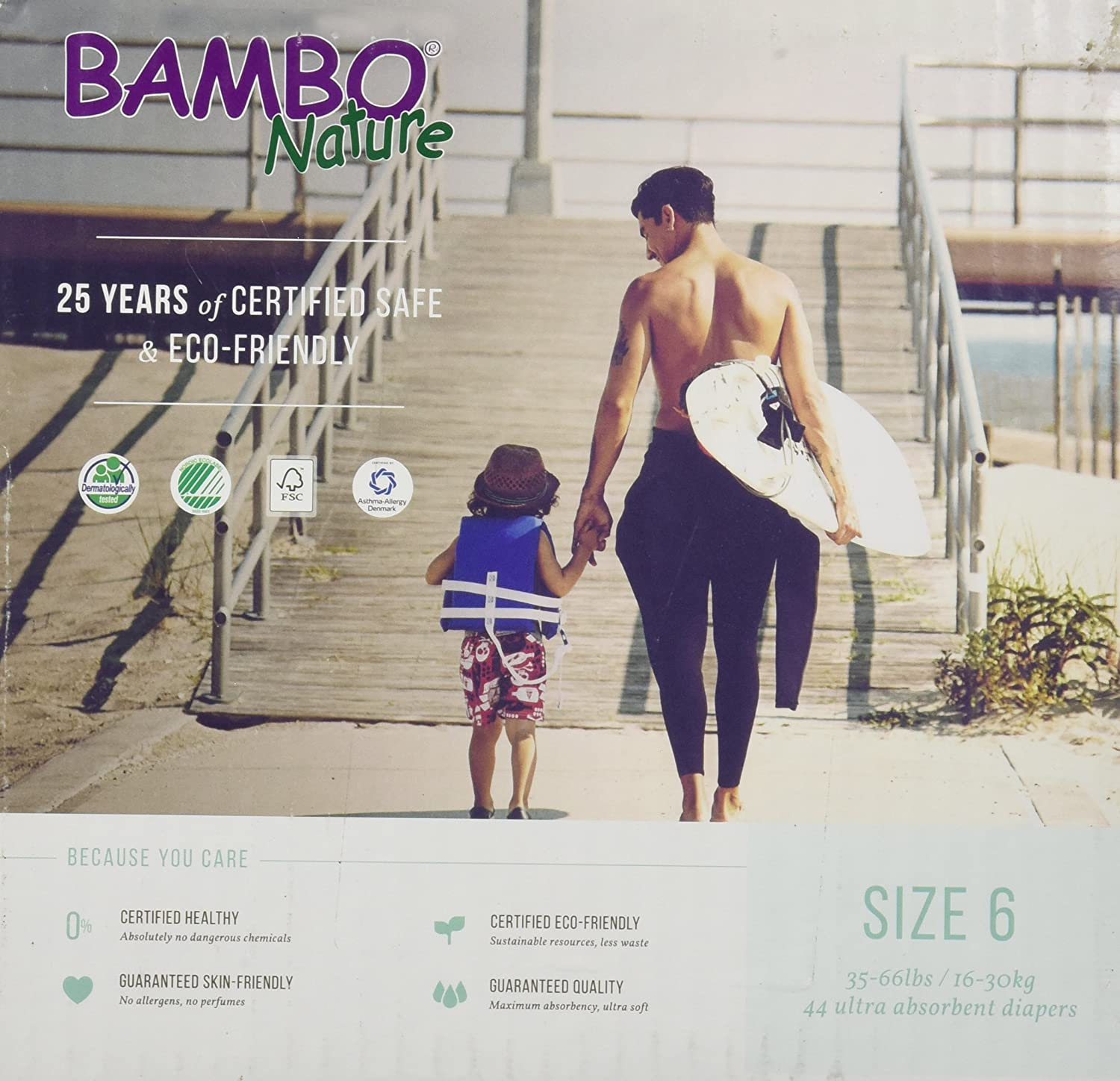 Bambo Nature Premium Baby Diapers, XL, Size 6, 44 Count by Bambo Nature   B00VTVGE4U