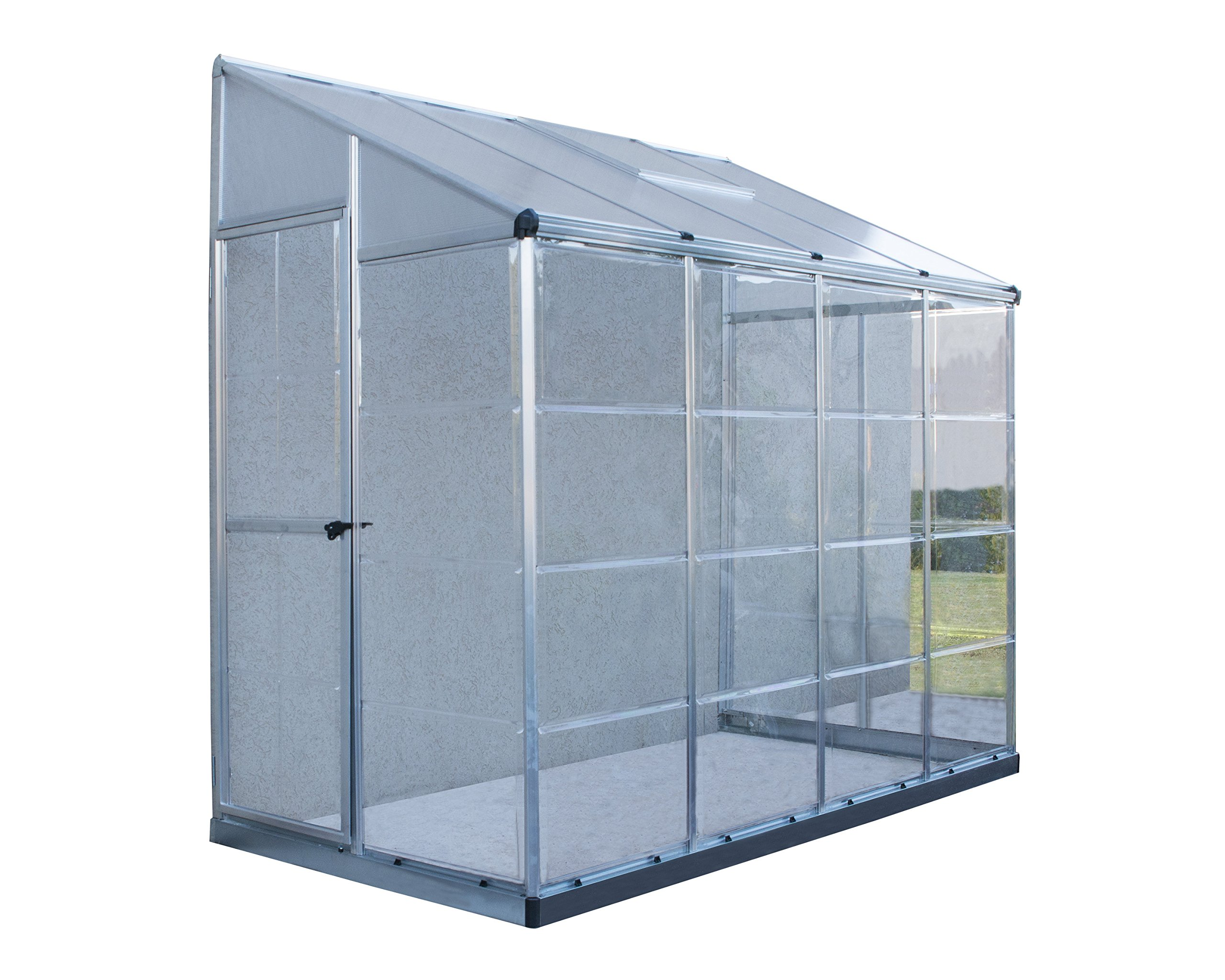 Palram Hybrid Lean-To Greenhouse - 4' x 8'