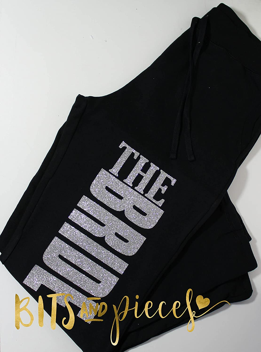 Glitter - Mother or the Bride - Bridal Party Sweatpants - Bachelorette Party/Wedding Party Gift/Bride Groom Bridesmaid Flower Girl Ring Bearer Maid of Honor