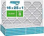 Aerostar Clean House 16x25x1 MERV 8 Pleated Air Filter, Made in